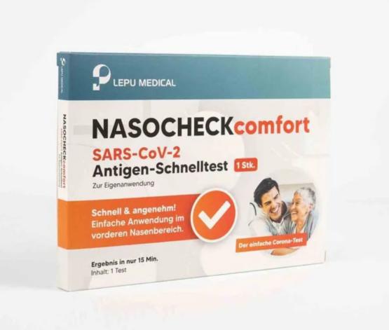 Nasocheck Comfort SARS-CoV-2 Antigen Schnelltest von Lepu Medical